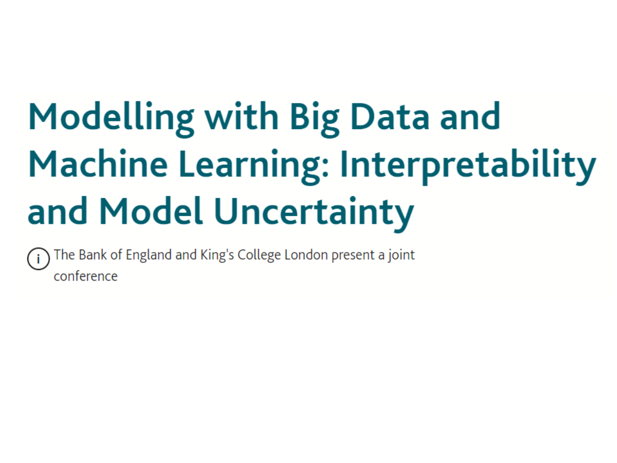 Modelling with Big Data and Machine Learning